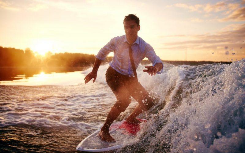 Surfar a onda do sucesso